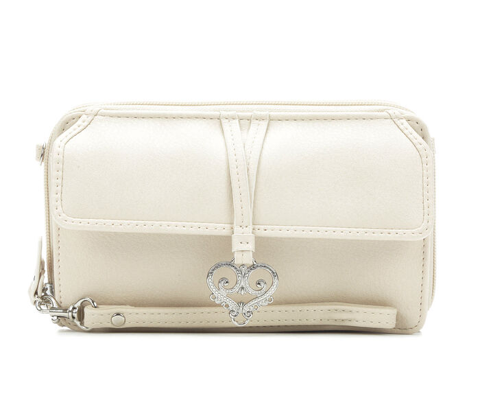 Bueno Of California Heart Flap Wallet on a String