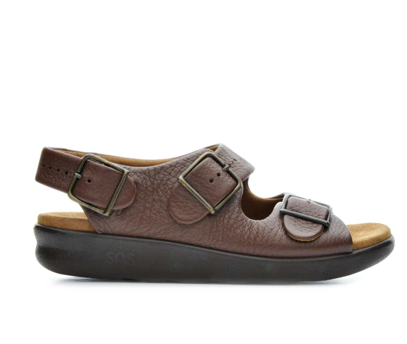 Women's Sas Relaxed Footbed Sandals Amber