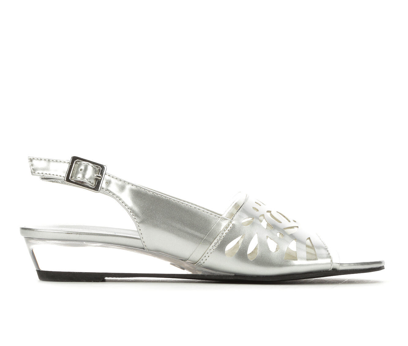 Women's Easy Street Celebrate Shoes Silver/Clear