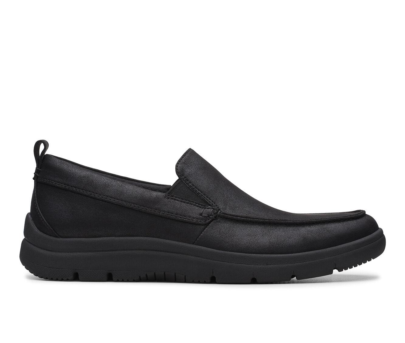 Men's Clarks Tunsil Way Slip-On Shoes Black