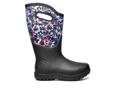 Women's Bogs Footwear Neo Classic Wide Calf Real Flower Waterproof Boots