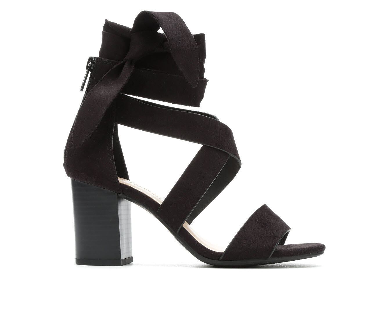 Women's City Classified Ladies Lace-Up Strappy Heeled Sandals Black