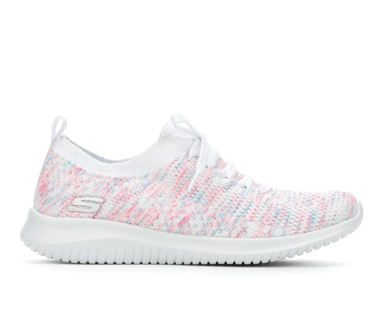 High-Fashion Women's Skechers Happy Days 13101 Slip-On Sneakers White/Pink/Blue