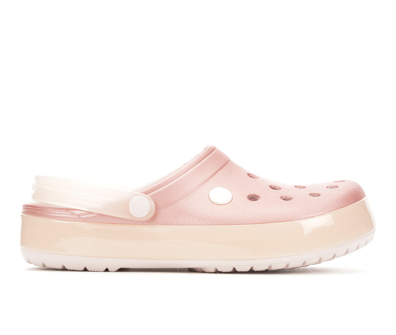 best price Women's Crocs Crocband Ice Clog Barely Pink