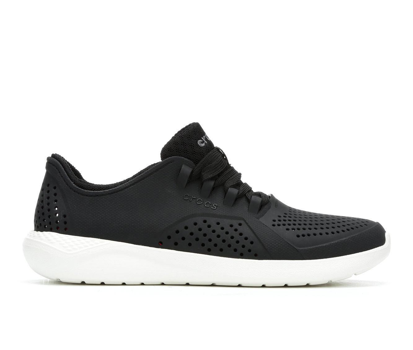 Women's Crocs Literide Graphic Pacer Black/White