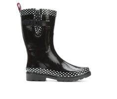 Women's Capelli New York Polka Dot Mid Rain Boots