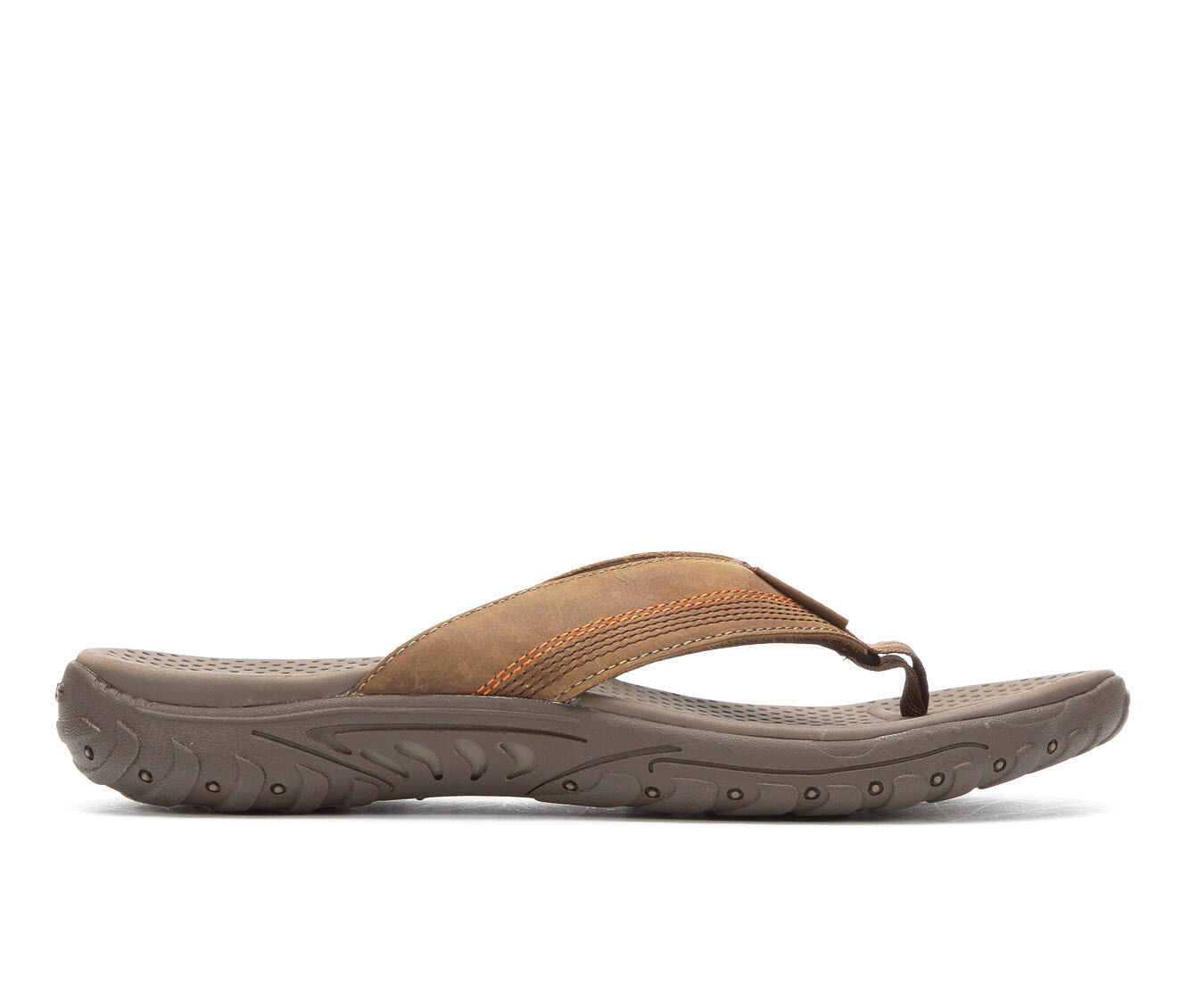 Men's Skechers Cobano 65460 Flip-Flops Brown