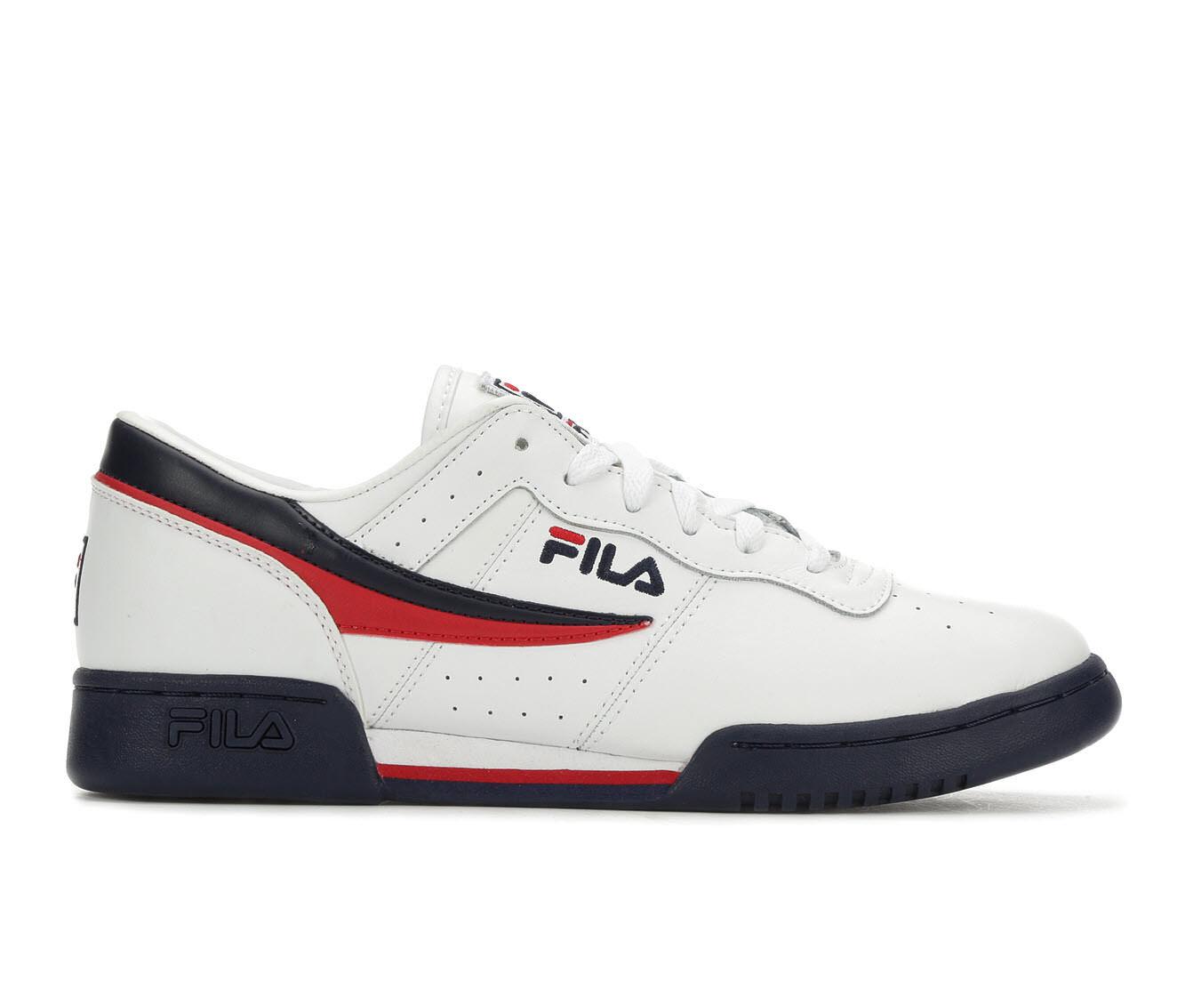 Men's Fila Original Fitness Retro Sneakers Wht/Nvy/Red
