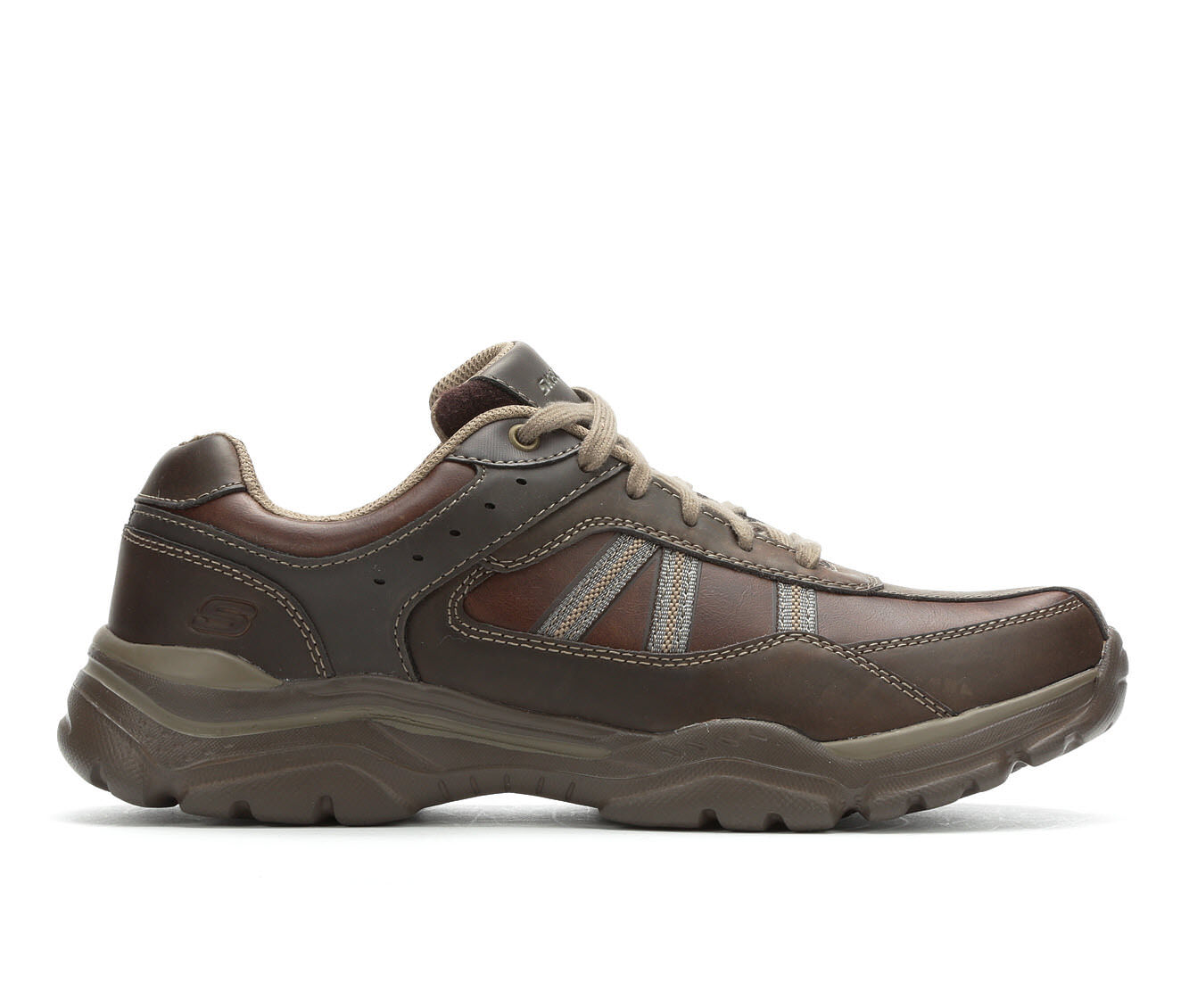 Men's Skechers Texon 65418 Relaxed Fit Lace-Up Oxfords Chocolate