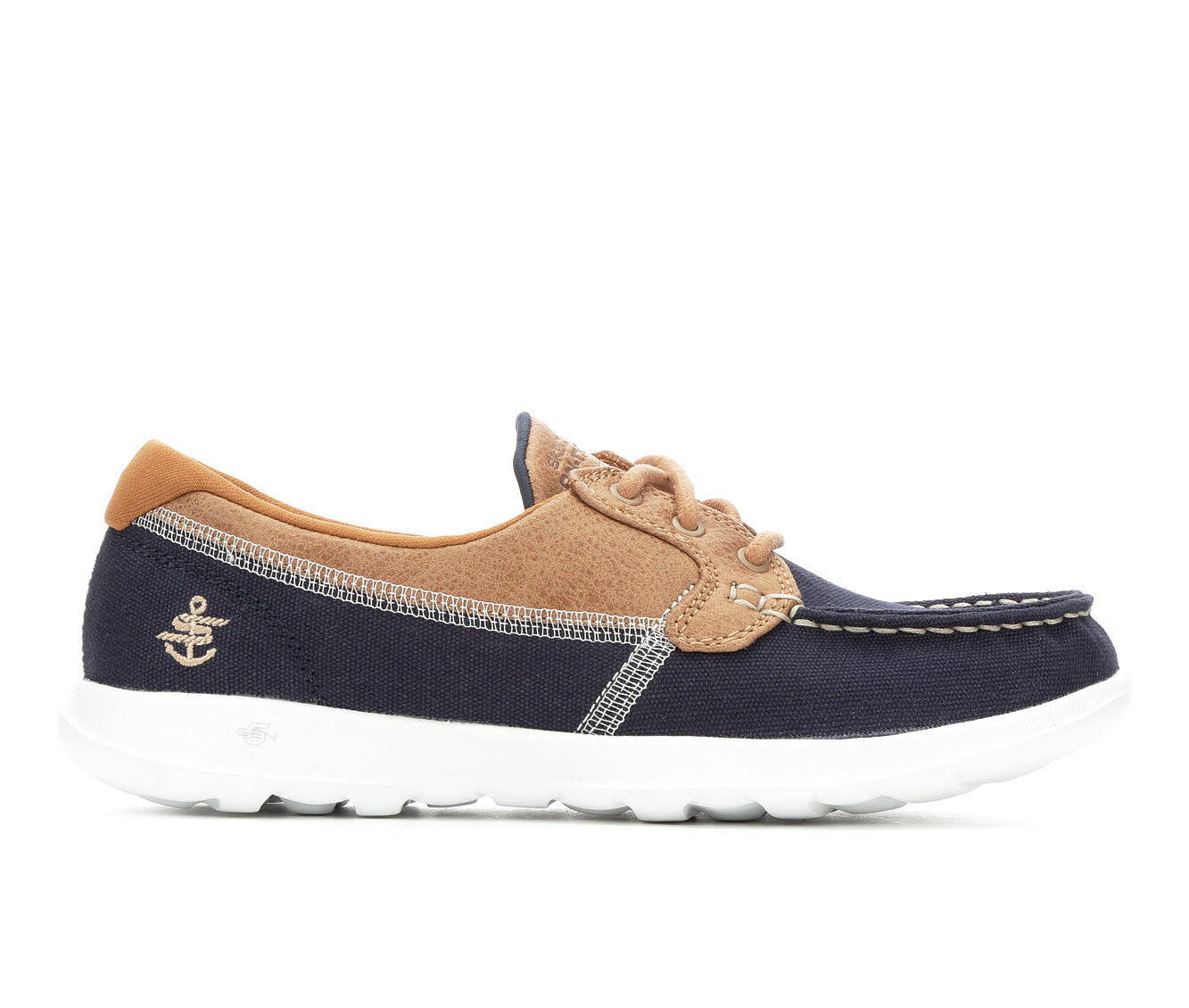 Women's Skechers Go Lite Coral 15430 Boat Shoes Navy