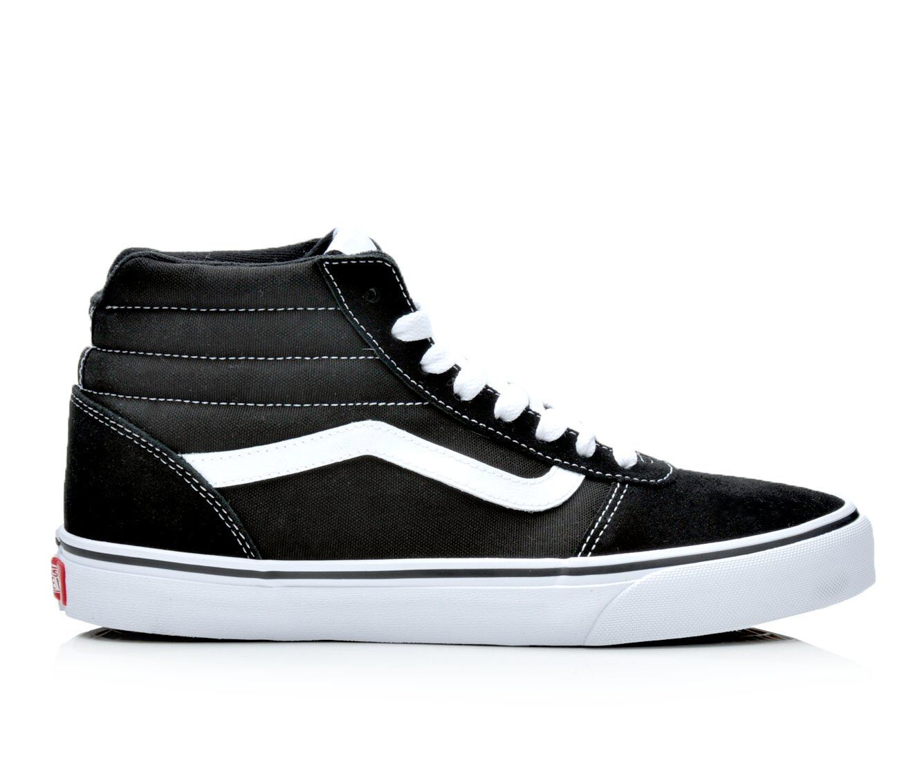 Men's Vans Ward Hi High Top Sneakers Black/Wht Suede