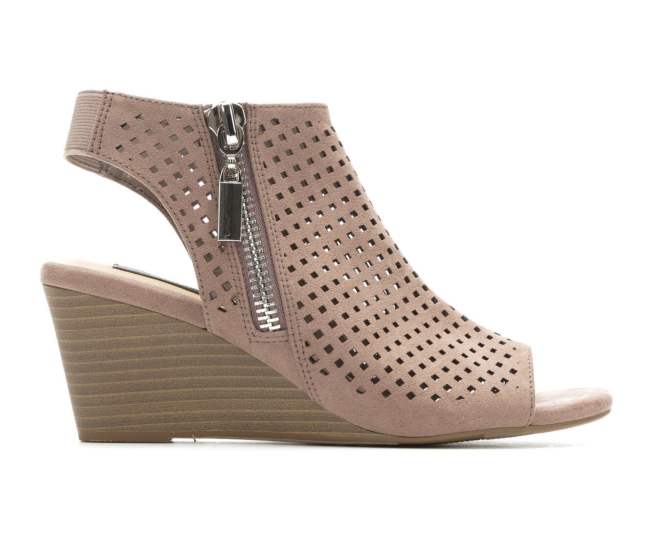 Women's David Aaron Hannah Wedges Taupe