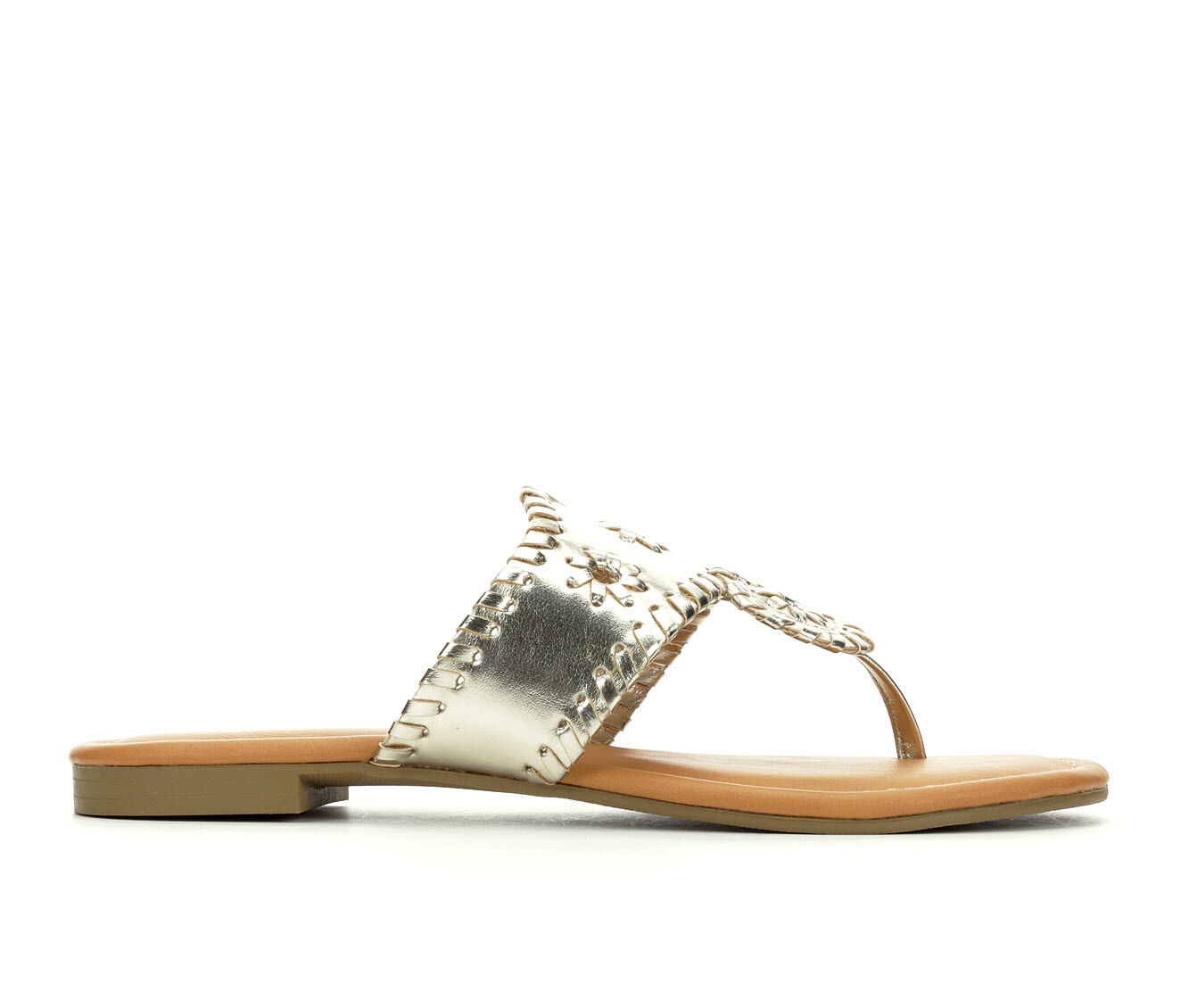 purchase export Women's Y-Not Crissy Flip-Flops Light Gold
