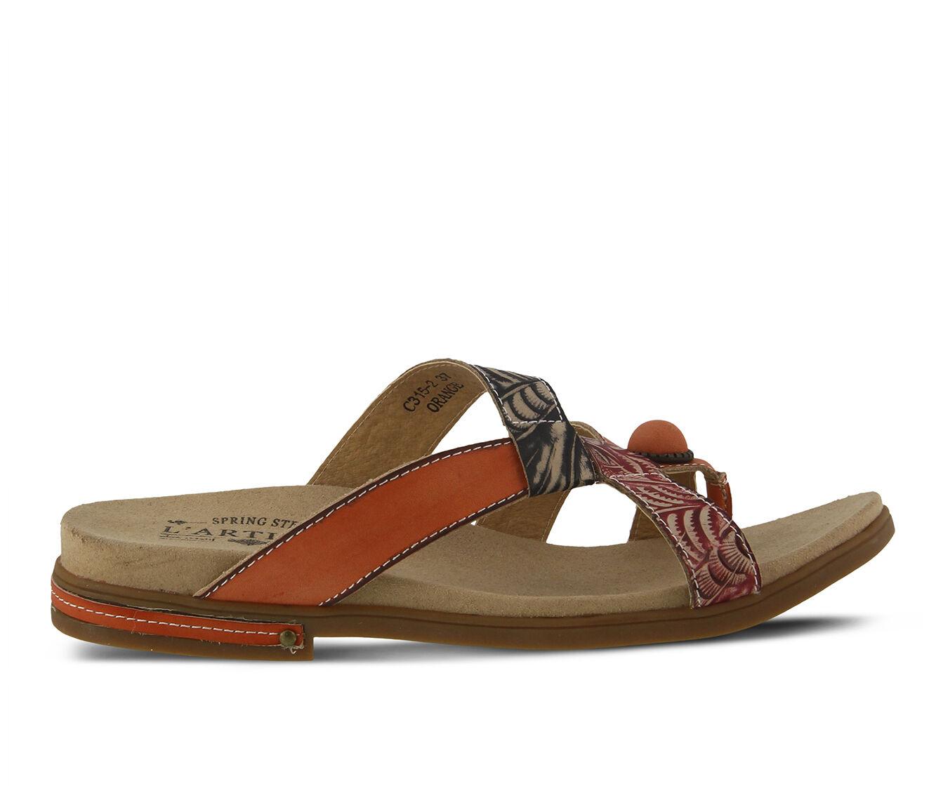 Delicate styles Women's L'ARTISTE Pierce Sandals Peach Multi