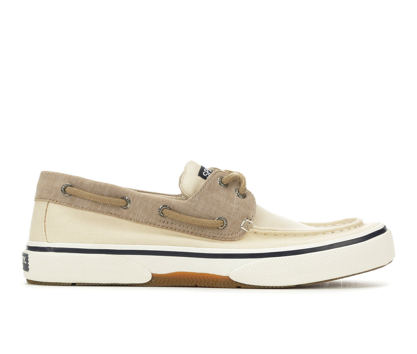Men's Sperry Halyard 2 Eye Chambray Casual Shoes Tan