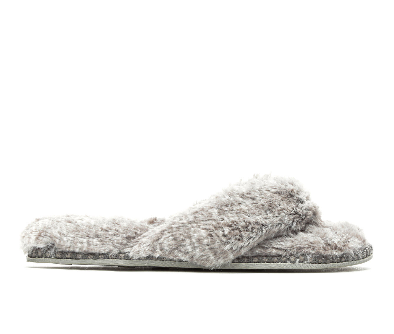 Dearfoams Pile Thong Woven Grey Frost