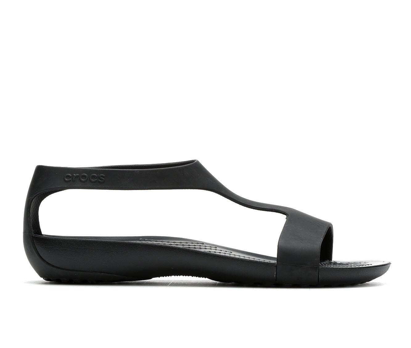 Women's Crocs Serena Sandal Black/Black