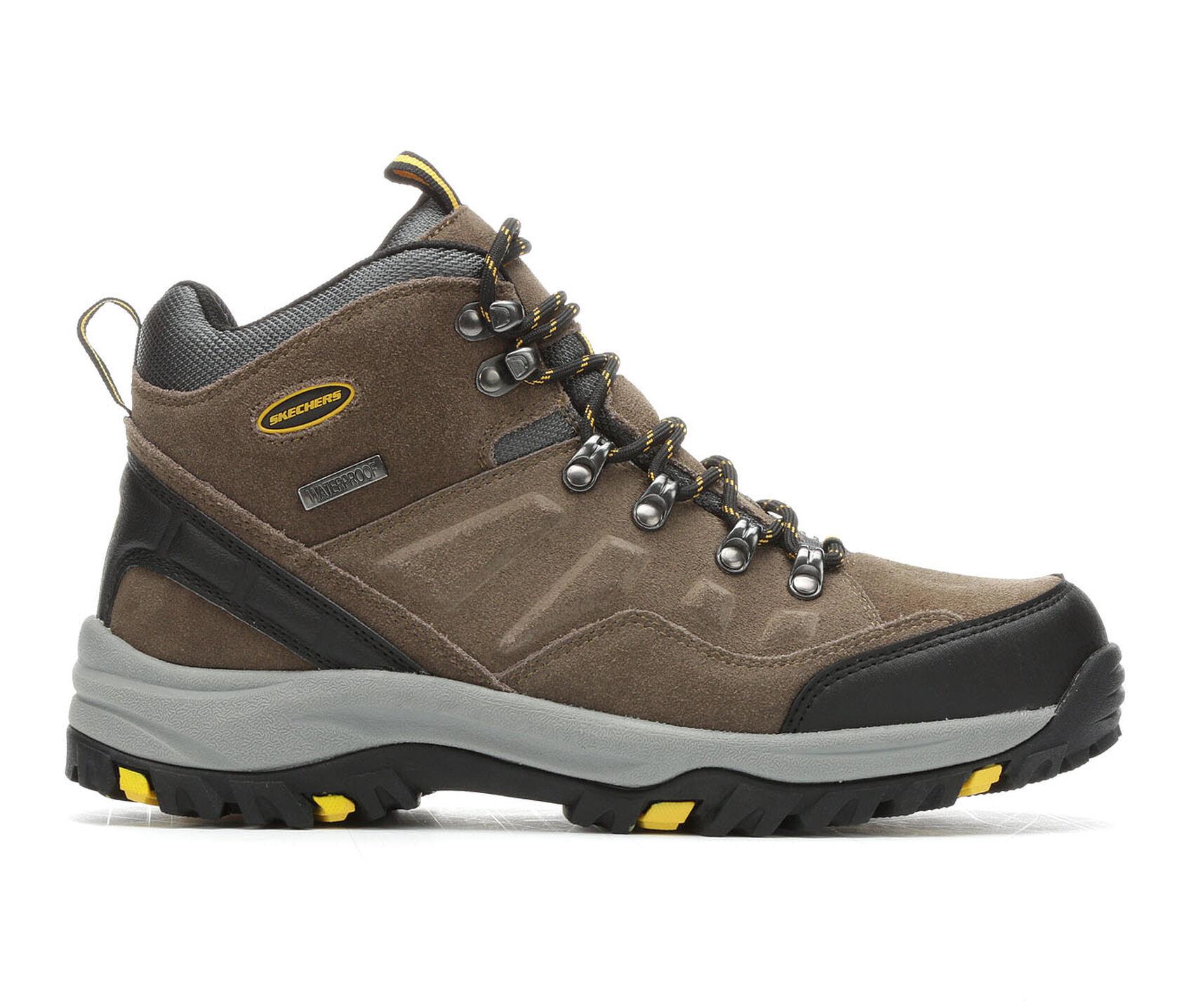 Men S Skechers Pelmo 64869 Hiking Boots Shoe Carnival