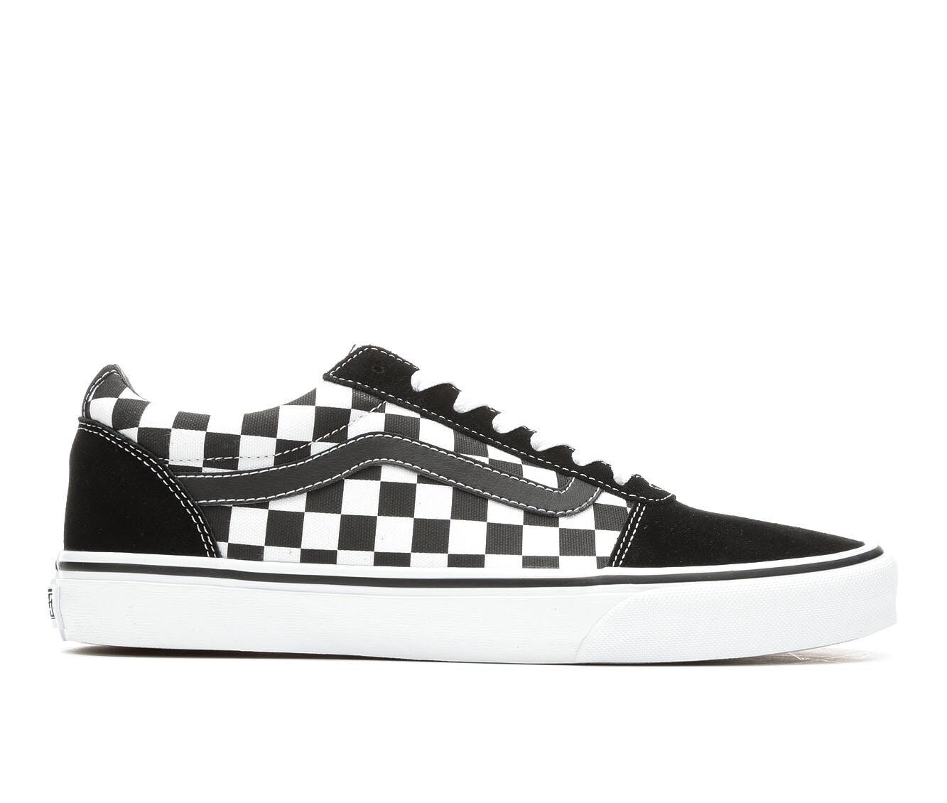 Men's Vans Ward Skate Shoes Black/Wht Check