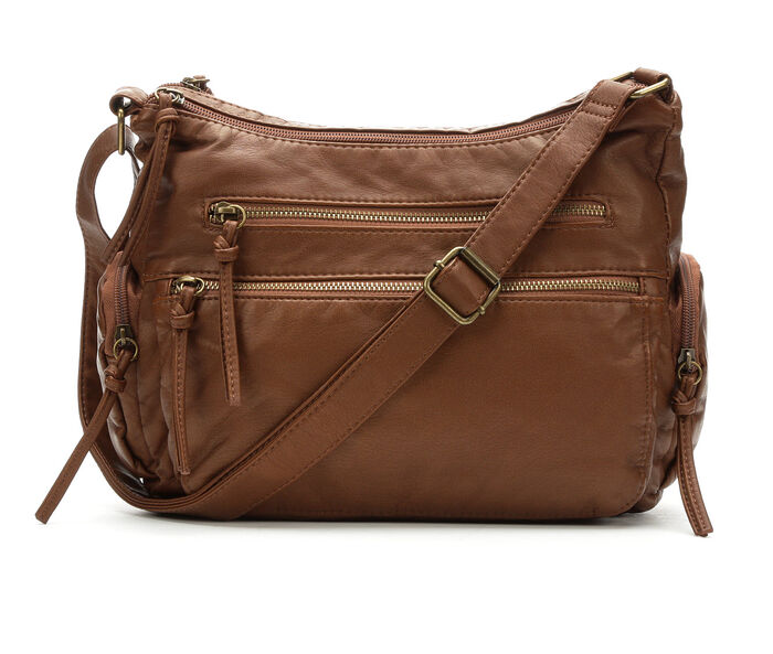 Bueno Of California Multi Zip Pocket Crossbody Handbag