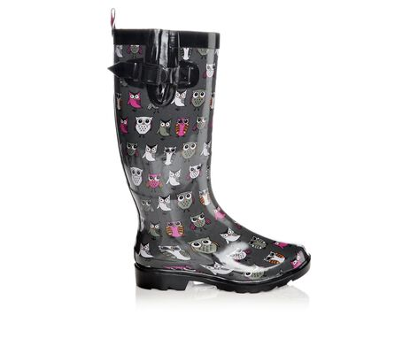 Women's Capelli New York Skechy Owls Rain Boots