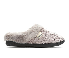 Dearfoams Cable Knit Chenille Clog Slippers