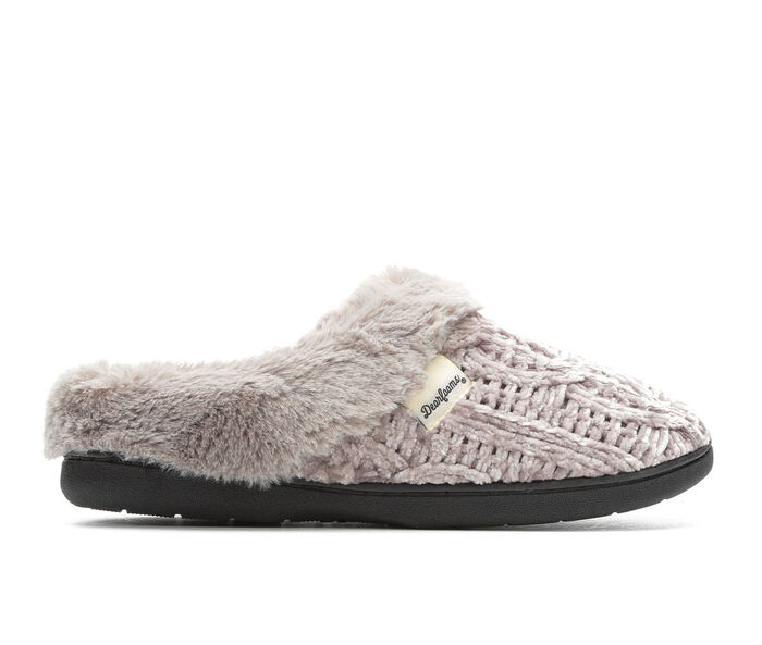 Dearfoams Cable Knit Chenille Clog
