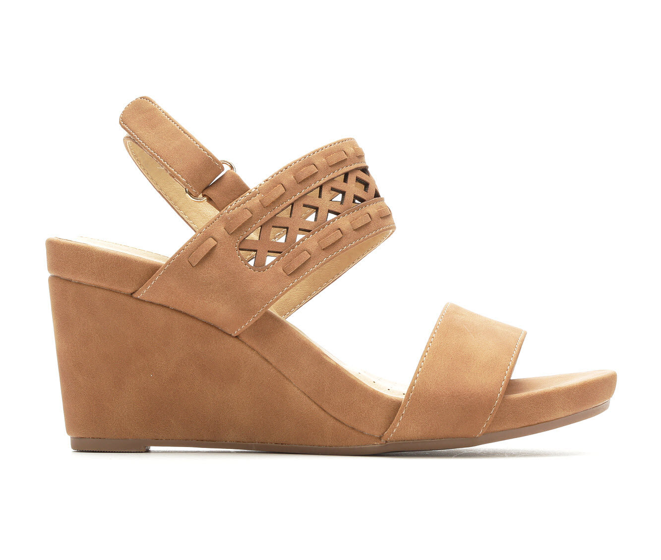 Reliable Women's Solanz Jusper Wedge Sandals Tan Lotus