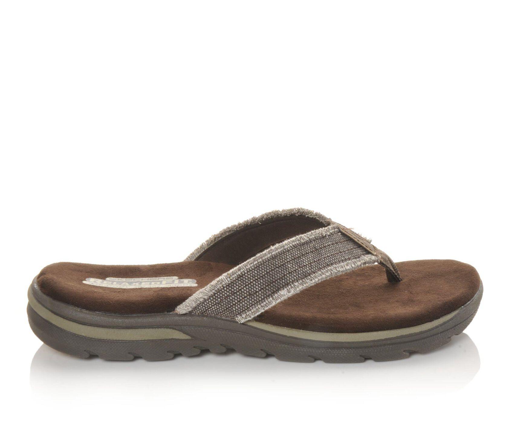 Men S Skechers Bosnia 64152 Flip Flops Shoe Carnival