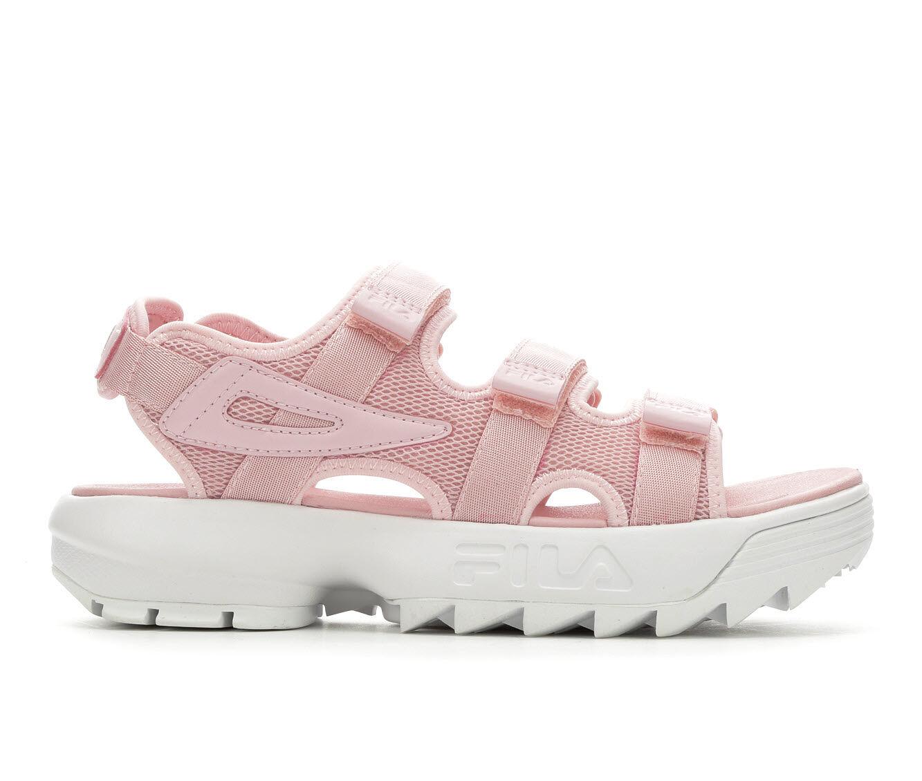 Women's Fila Disruptor Sandal Flatform Sandals Chalk Pink/Whit