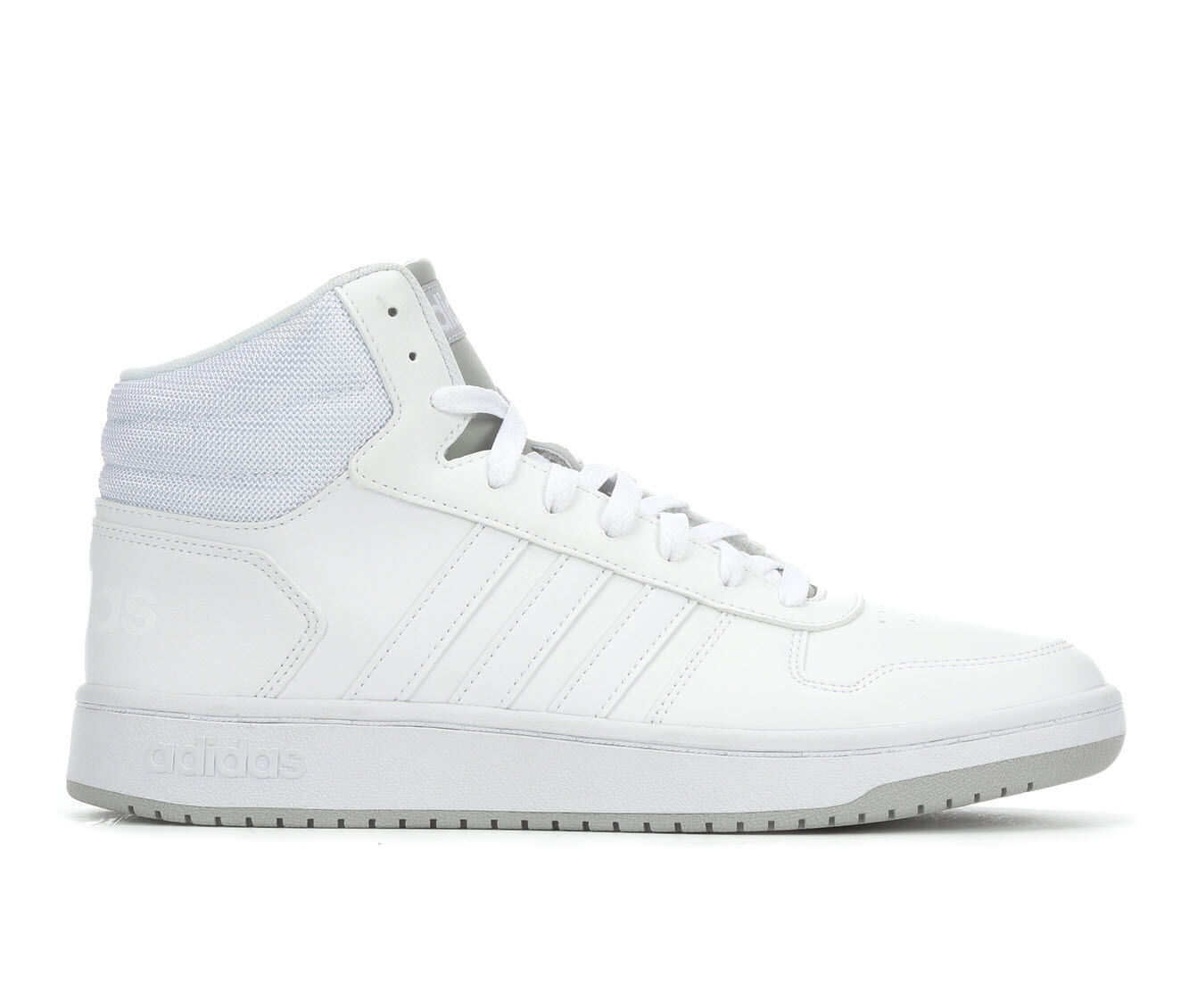 Men's Adidas Hoops 2.0 Mid Retro Sneakers Wht/Wht/Gry