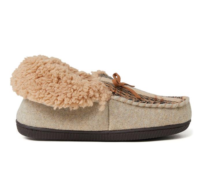 Dearfoams Marley Plaid Moccasin Slippers