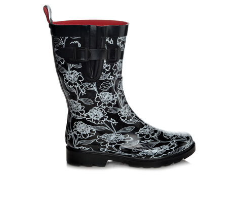 Women's Capelli New York Fine Floral Mid Shaft Rain Boots