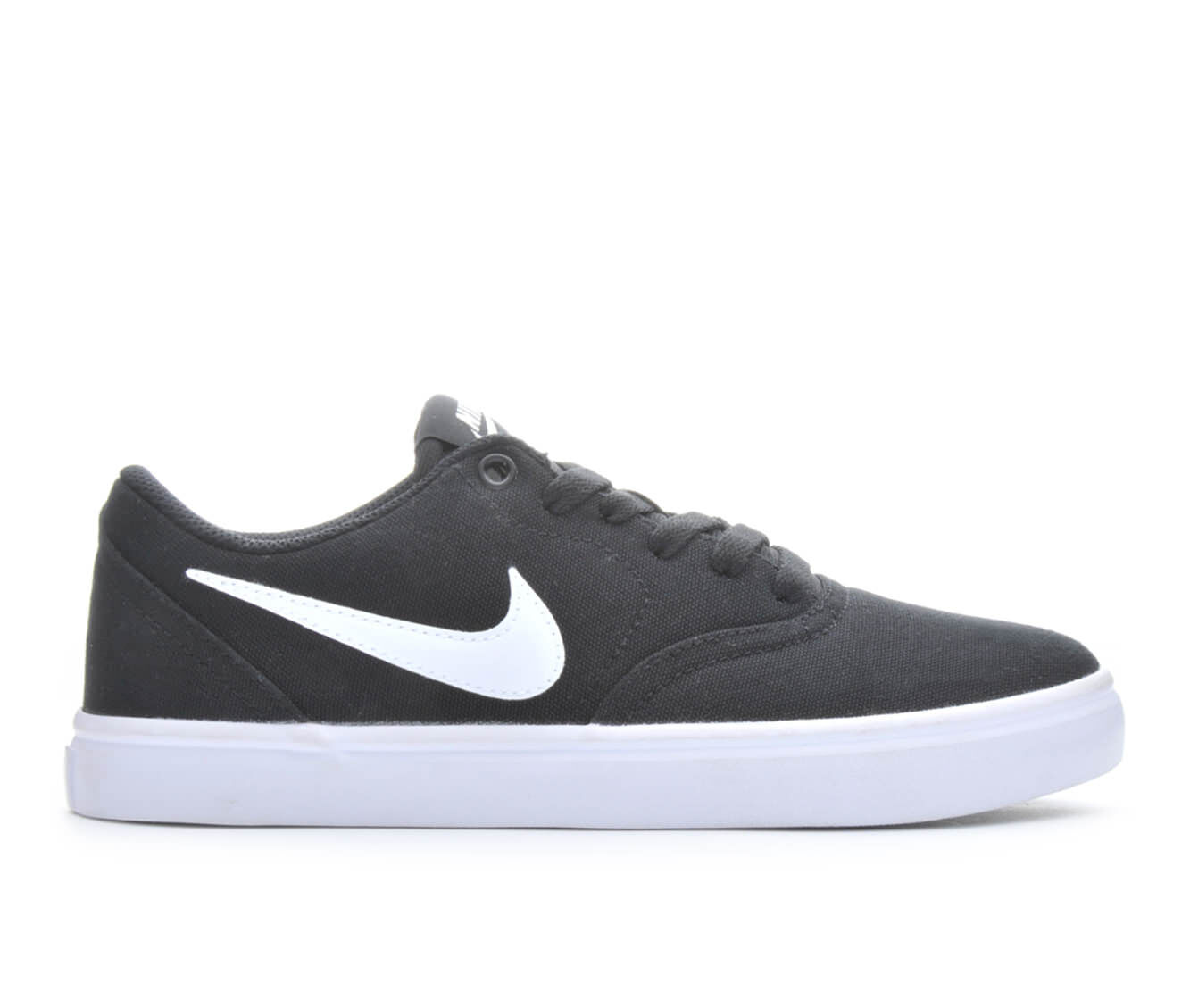 all styles Women's Nike Solar Check Canvas Skate Shoes Black/Whit/Plat