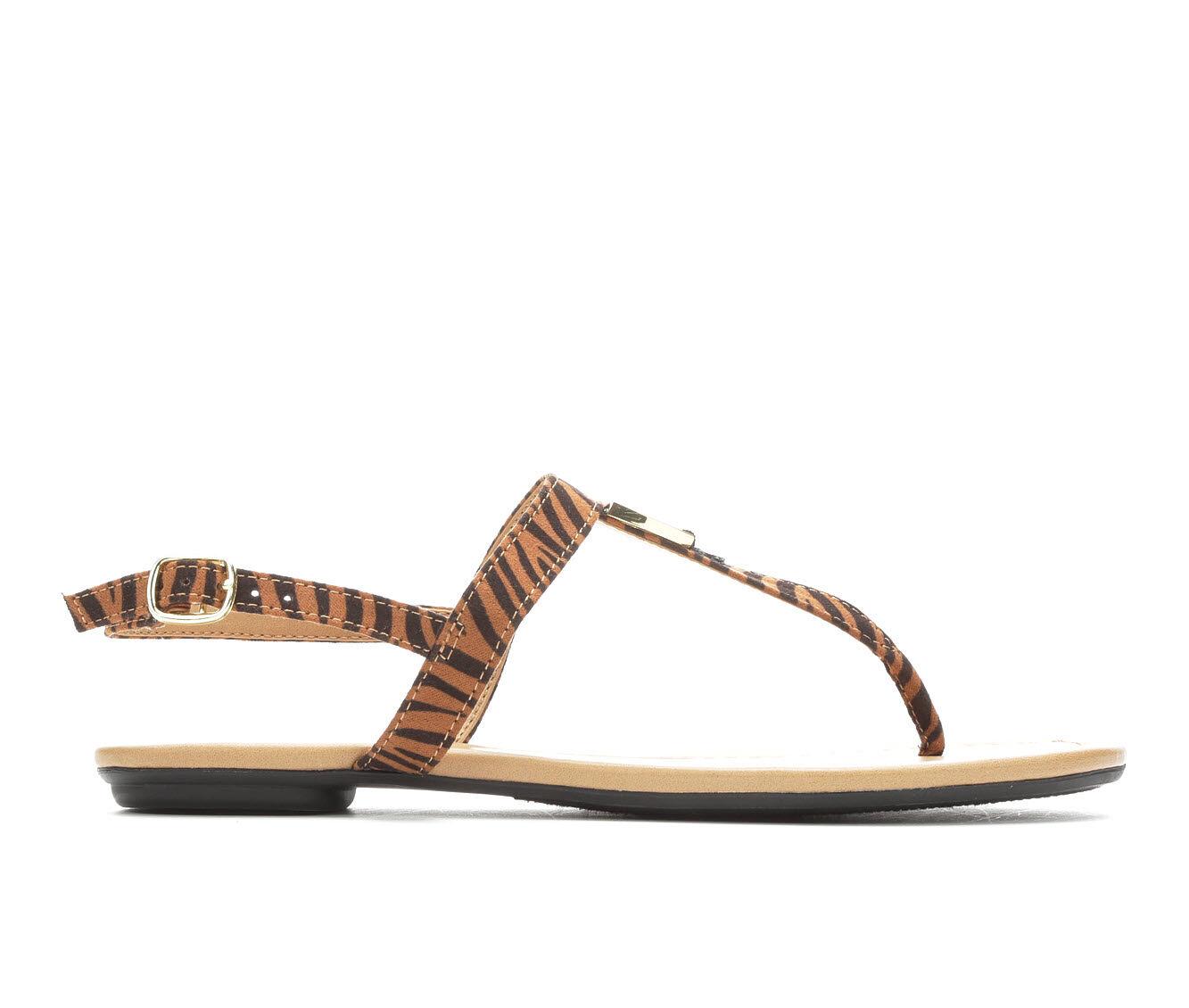 Women's Solanz Gallant Sandals Tan Tiger Print