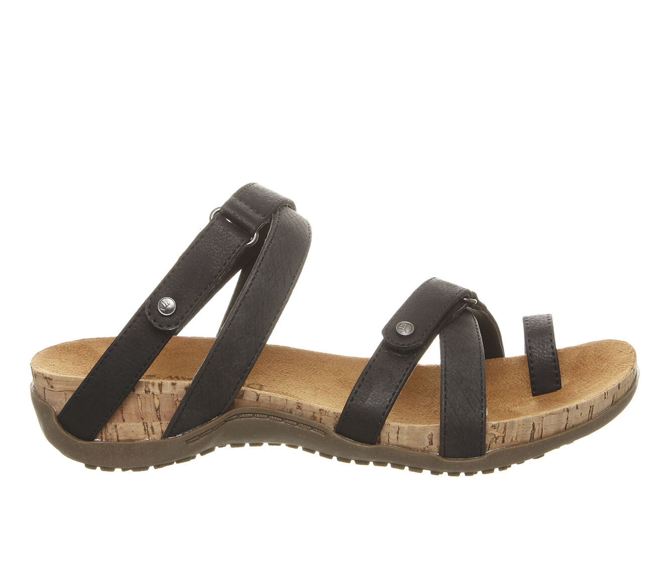Women's Bearpaw Nadine Footbed Sandals Black