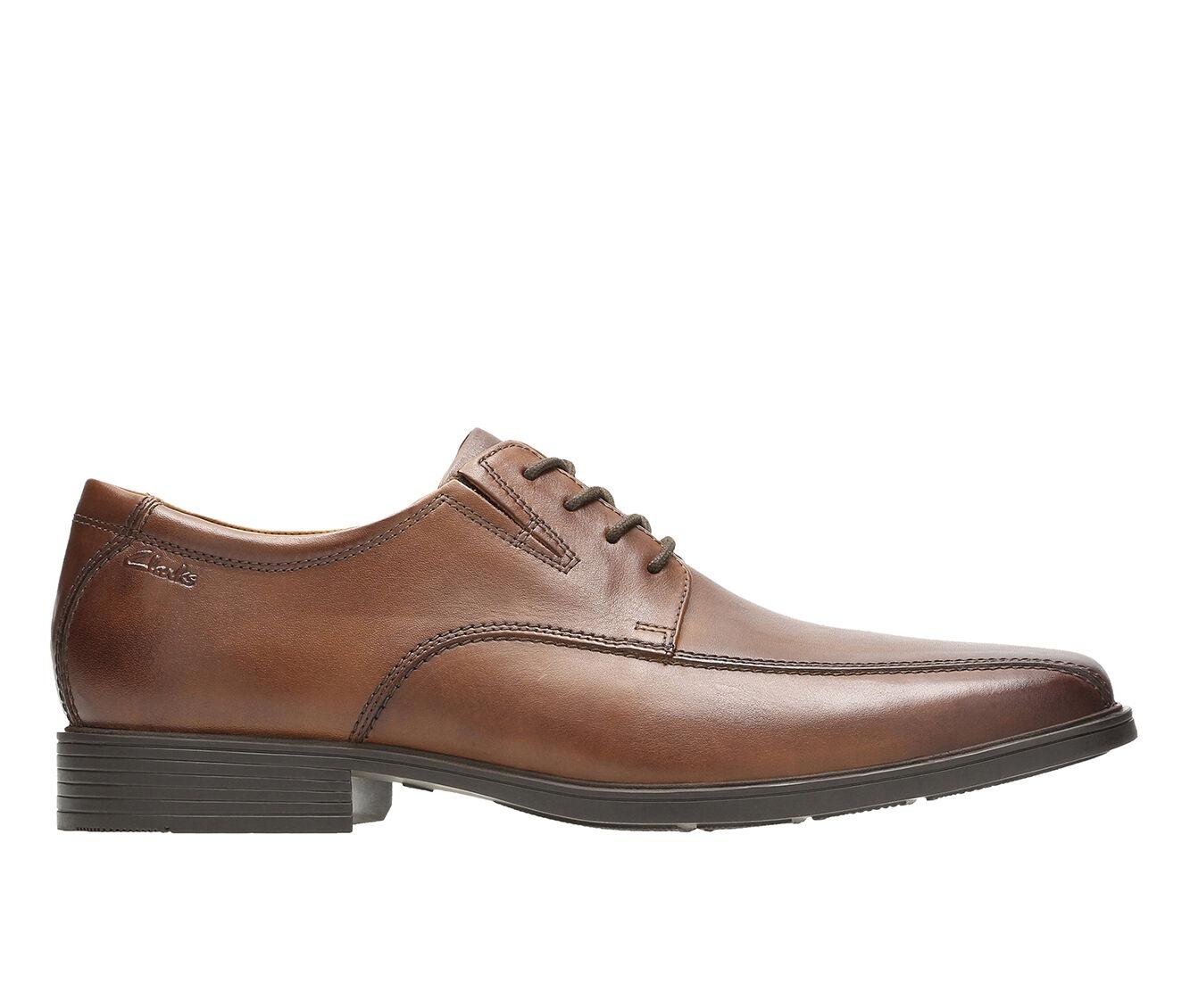 Men's Clarks Tilden Walk Dress Shoes Dark Tan