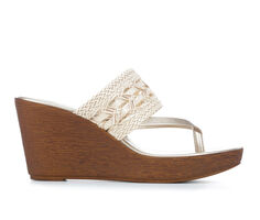 Women's Italian Shoemakers Chain Platform Wedges