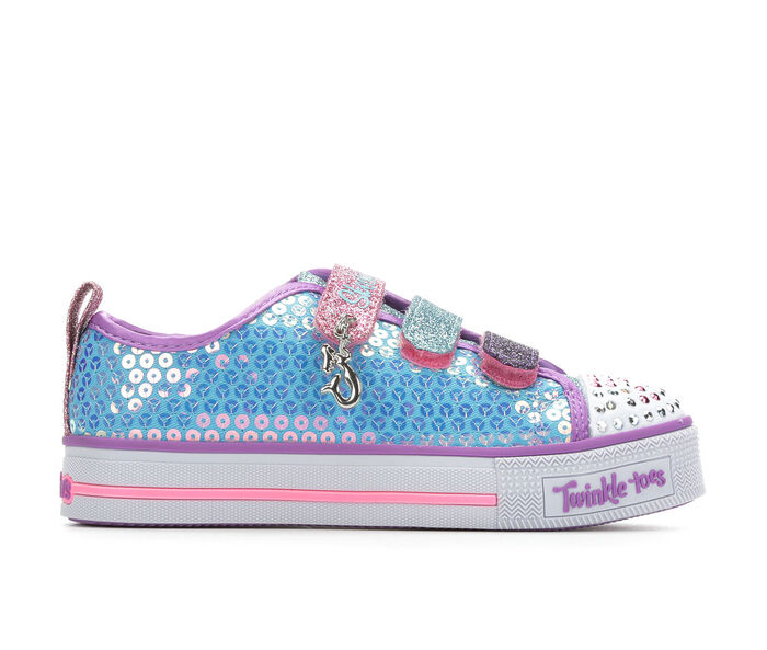 Girls' Skechers Little Kid & Big Kid Mermaid Magic Light-Up Sneakers