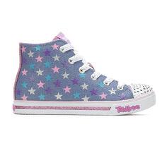 Girls' Skechers Shiny Starz 10.5-4 High Top Light-Up Sneakers