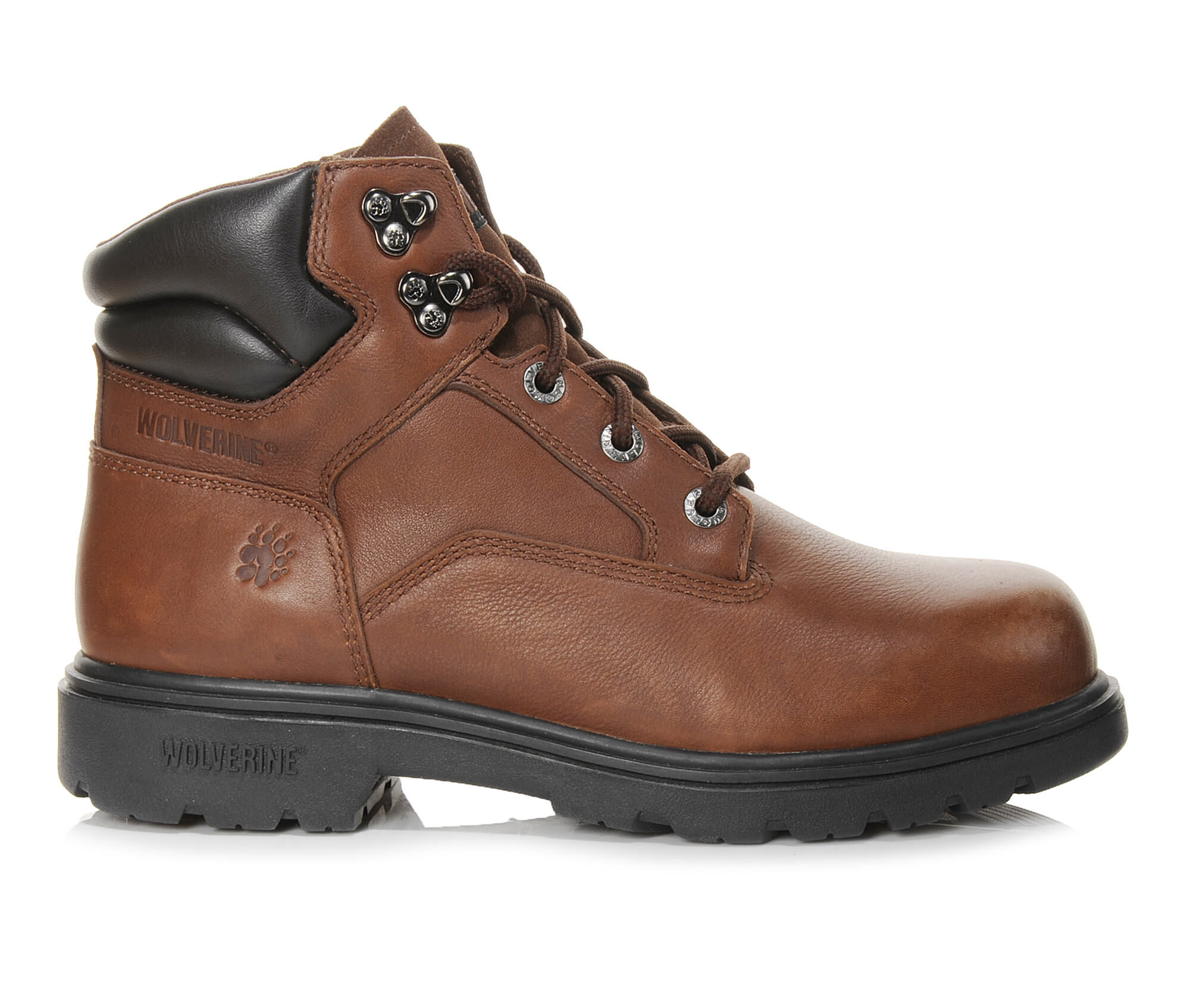 Images. Men's Wolverine 6 In Bulldozer Steel Toe Work Boots