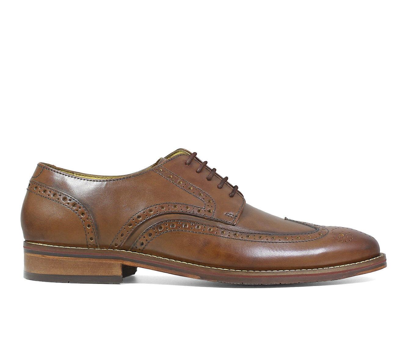 clearance price Men's Florsheim Salerno Wing Tip Oxford Dress Shoes Cognac