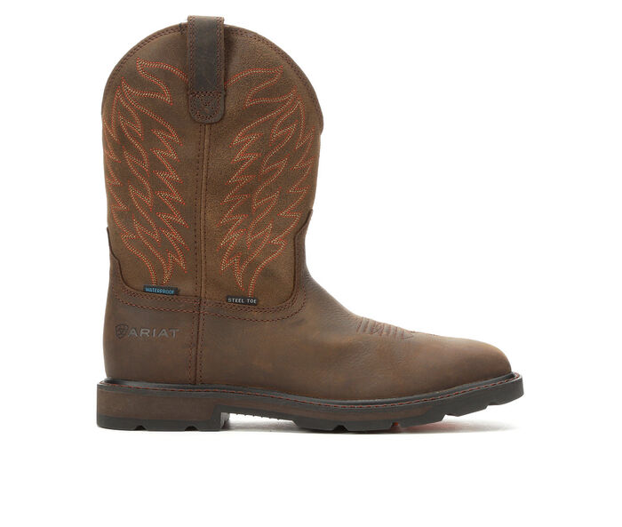 Men's Ariat Groundbreaker Waterproof Steel Toe Cowboy Boots