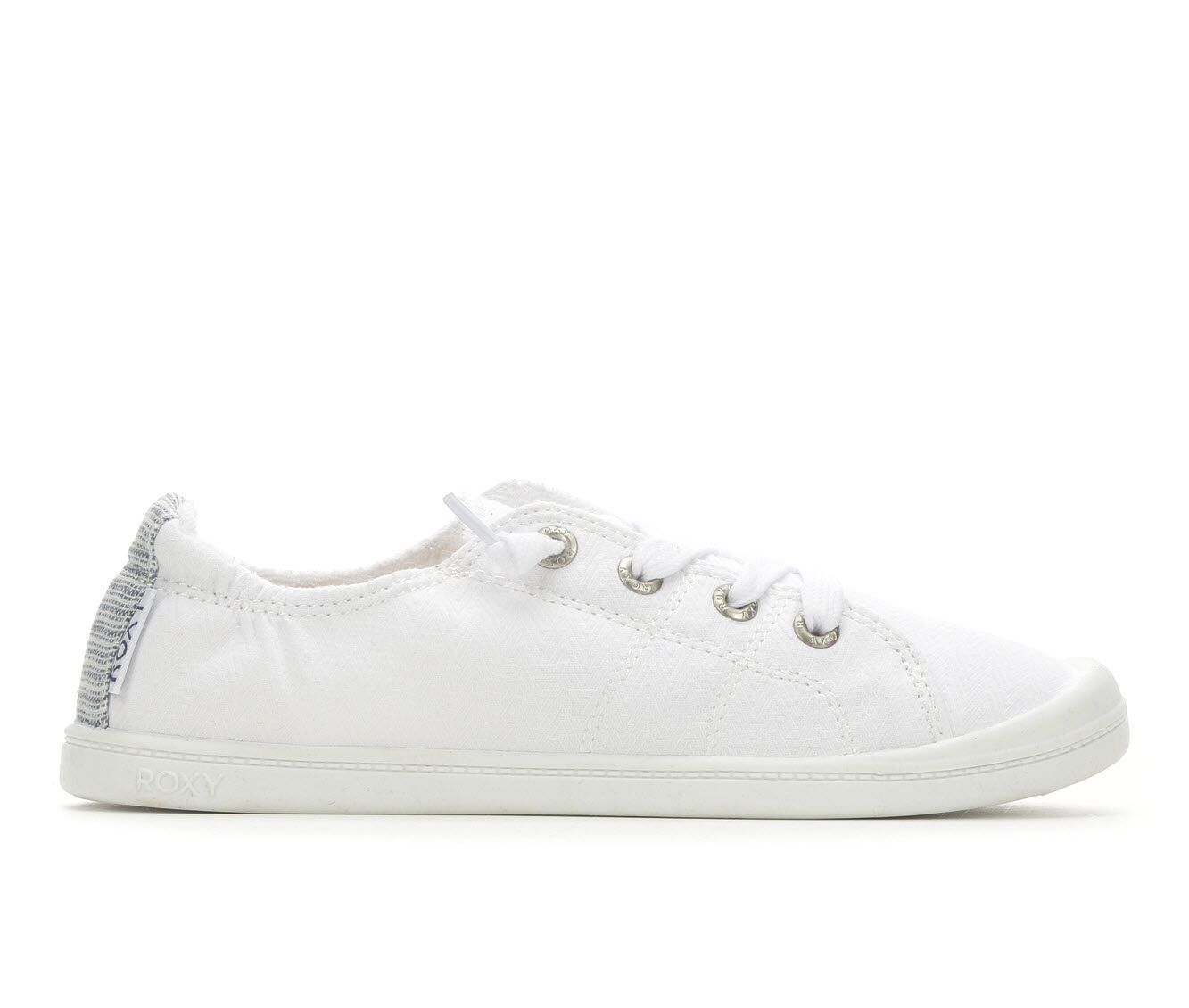 Women's Roxy Bayshore Sneakers White Smooth