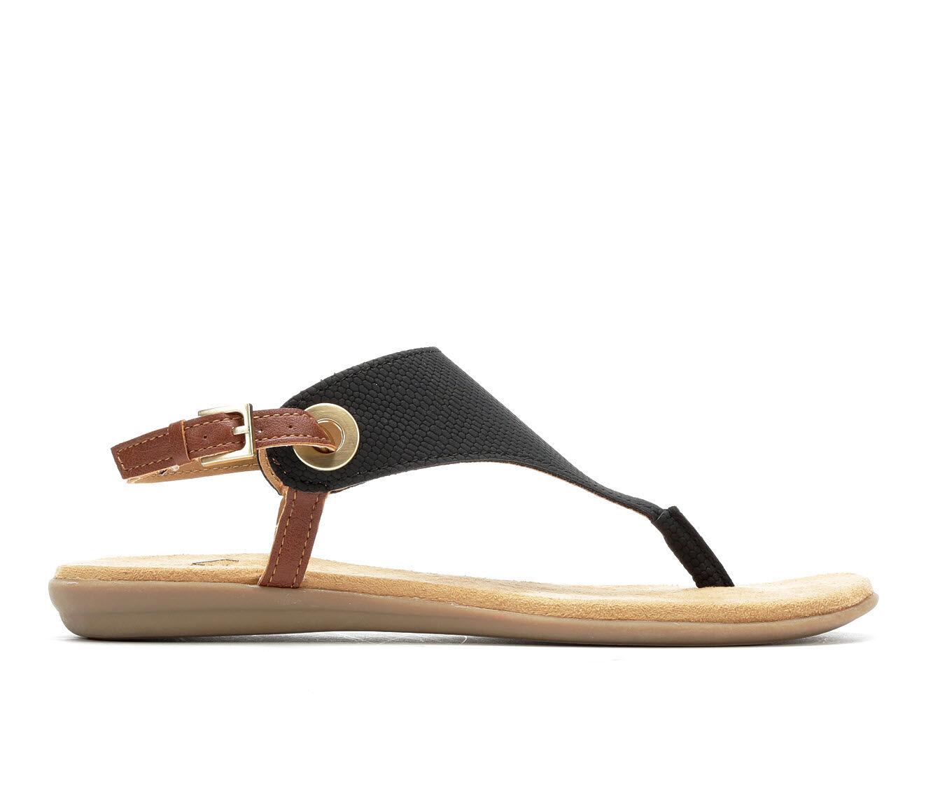 Women's Solanz Layla Sandals Black w/ Cognac