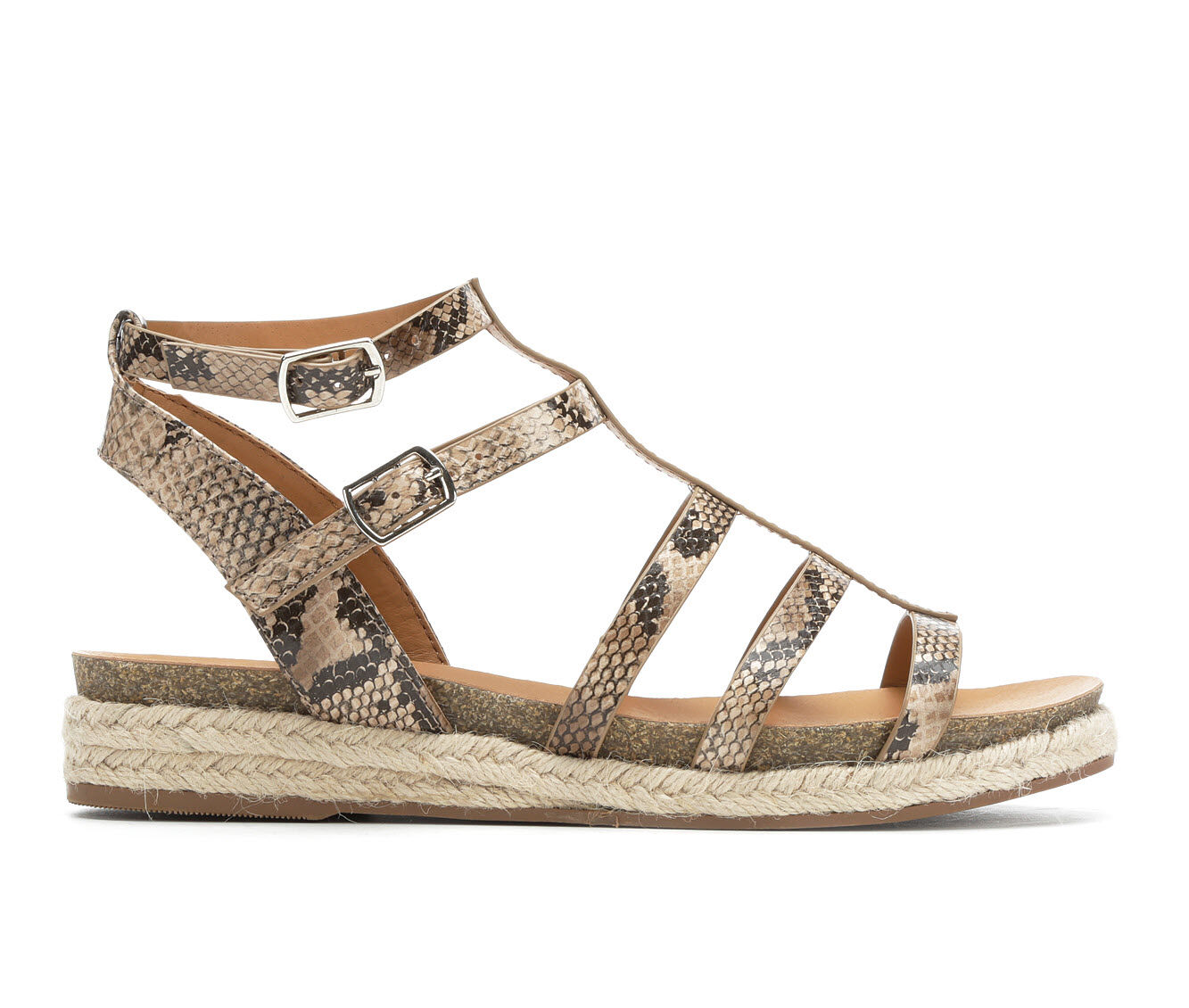 Women's City Classified Faster Flatform Sandals Nat Python