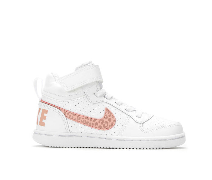Girls' Nike Court Borough Mid PS G High Top Basketball Shoes