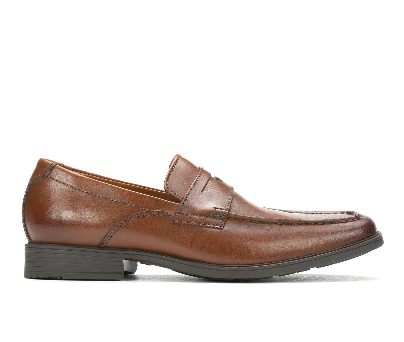 Men's Clarks Tilden Way Slip On Penny Loafers Brown