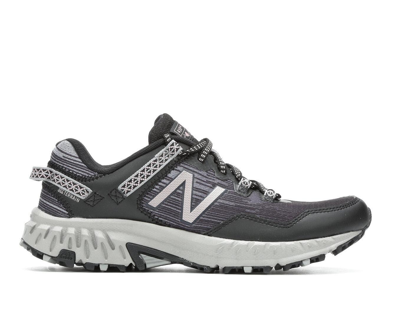 Women's New Balance WT410V6 Trail Running Shoes Blk/Magnet/Rose