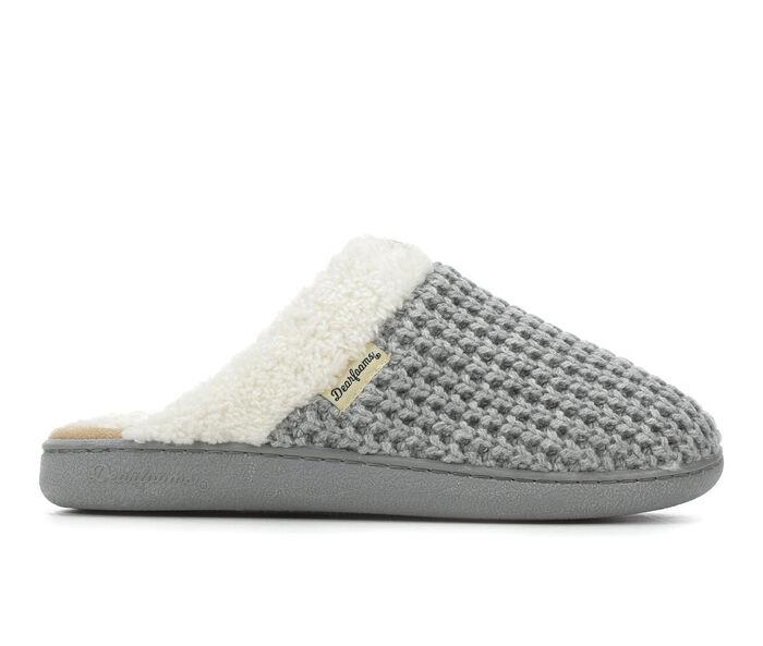 Dearfoams Textured Knit Closed Toe Scuff Slippers